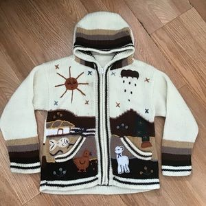Other - Authentic Mexican kids knit cardigan sweater.